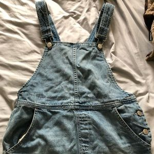 18e3a4aa76a Free People Skirts - Free people cotton ripped overalls dress